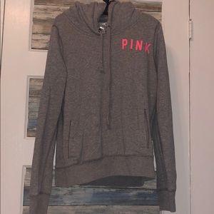 Victoria secret pink gray hoodie!